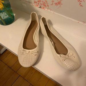 Merona Perforated White Flats Size 11, NWOT